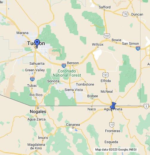 Agua Prieta, Mexico - Google My Maps