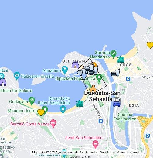 San Sabastian Spain Map San Sebastian   Google My Maps