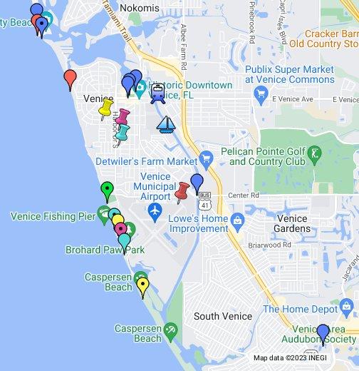 Map Venice Florida Area.Venice Florida Google My Maps