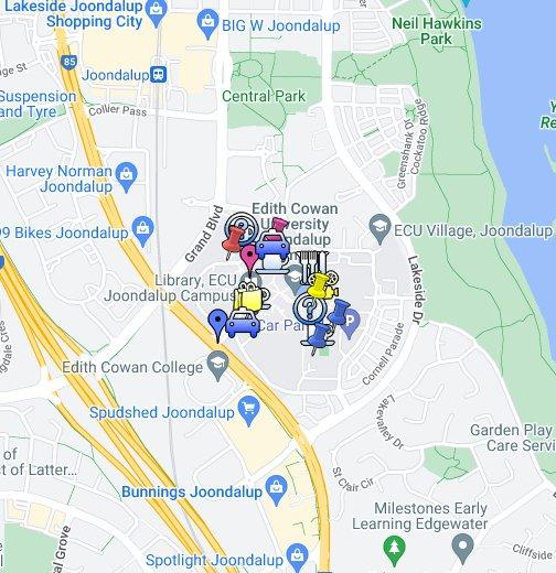 Edith Cowan University Joondalup Campus Google My Maps