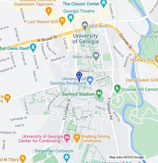 UGA Miller Learning Center - Google My Maps