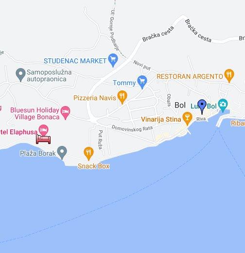 kamenari crna gora mapa Bol, Brac Island, Croatia   Google My Maps kamenari crna gora mapa