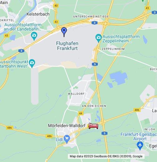 debrecen térkép google map Frankfurt Airport Map   Google My Maps debrecen térkép google map