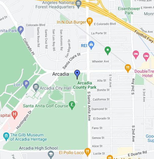 Arcadia, CA - Google My Maps