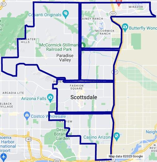 Map Of Scottsdale Arizona Zip Codes.Zip Code Map Scottsdale South Of Shea Blvd Paradise Valley
