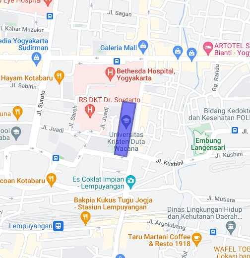 UKDW Yogyakarta - Google My Maps