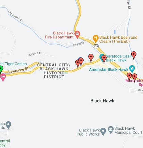Blackhawk Colorado Casinos Map Black Hawk, Colorado Casino Directory   Google My Maps