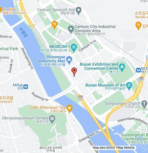 Busan Cinema Center - Busan map