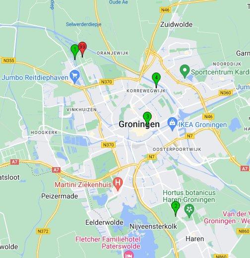 HiSPARC cluster Groningen - Google My Maps