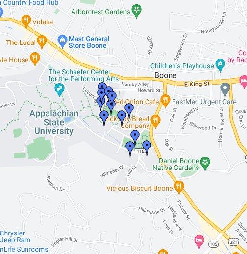 Appalachian State University Campus Tour Google My Maps