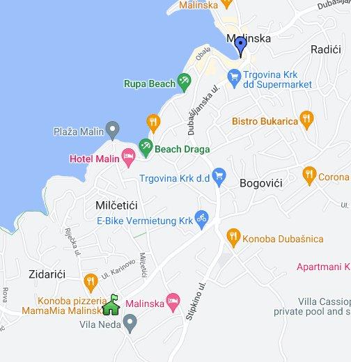 Malinska Google My Maps