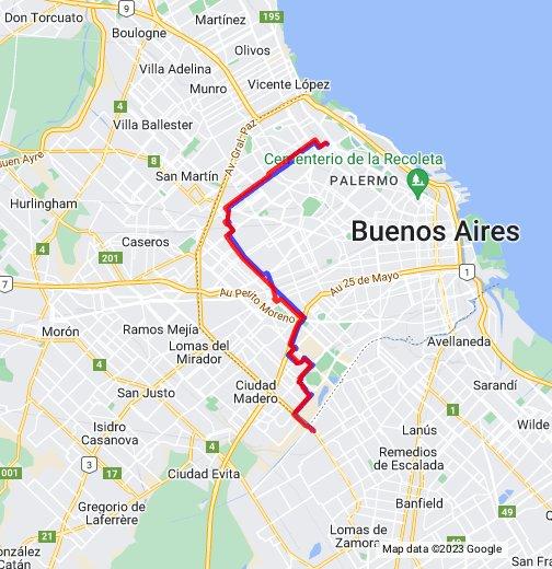 Recorrido Colectivo Linea 114 - Buenos Aires, Argentina