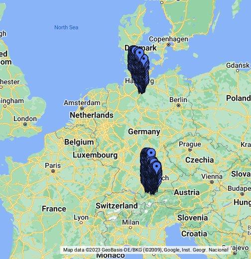 google deutschlandkarte Postleitzahlen und Orte in Deutschland   28797 PLZ Bezirke