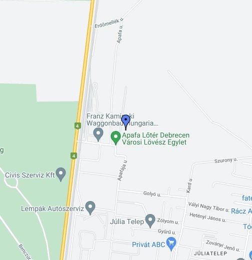 debrecen köntösgátsor térkép Debrecen Apafa Shooting Range   Google My Maps debrecen köntösgátsor térkép