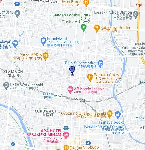 Isesaki Masjid - Isesaki map
