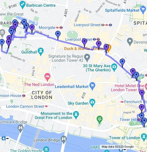 the london wall walk google my maps