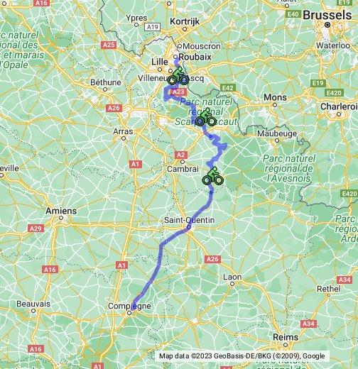 Paris-Roubaix - Google My Maps