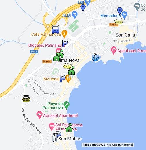 De map palma mallorca Palma de