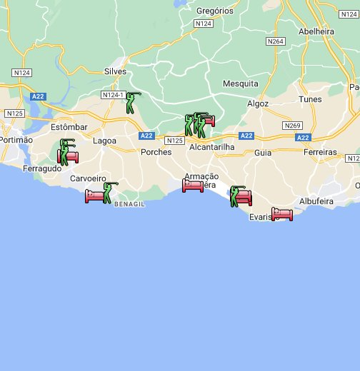 Algarve Golf Courses Golf Hotels - Portugal map vilamoura