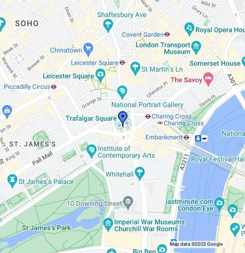 The Mall London Map.Trafalgar Square Google My Maps