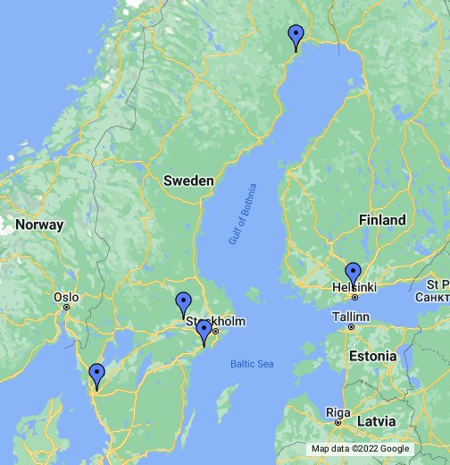 Sweden - Kaalbringen sweden map