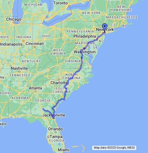 Eastern Seaboard Usa Map Southeast USA Map Us Map East Coast - Map of eastern seaboard us