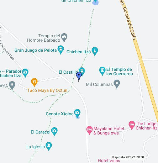 on chichen itza map