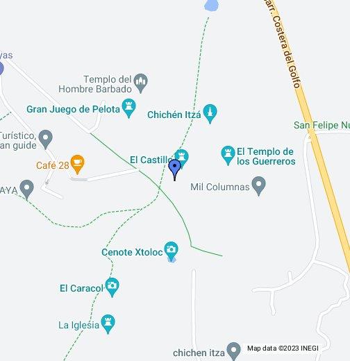 Chichen Itza Tour - Chichen itza map