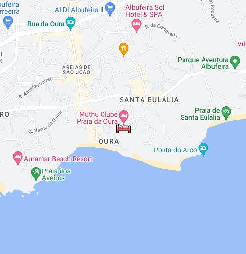 Clube Praia Da Oura - Praia map