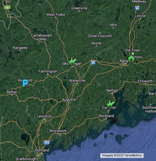 Maine Google My Maps