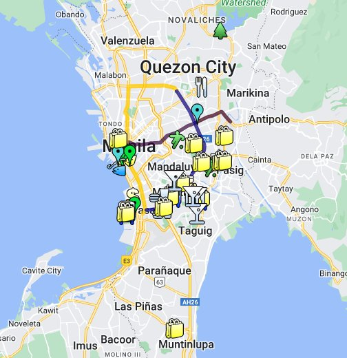 Metro Manila Directions Map - Google My Maps
