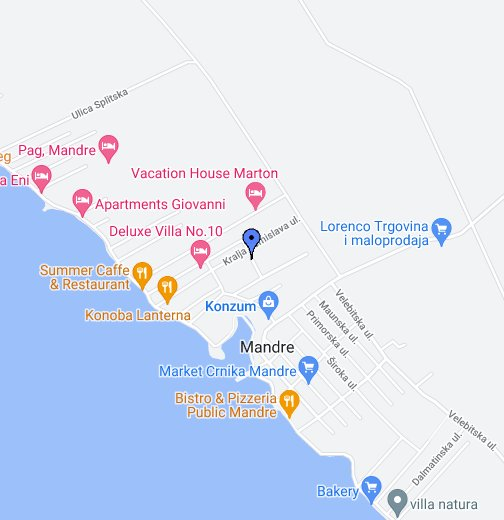 Mandre Island Of Pag Google My Maps