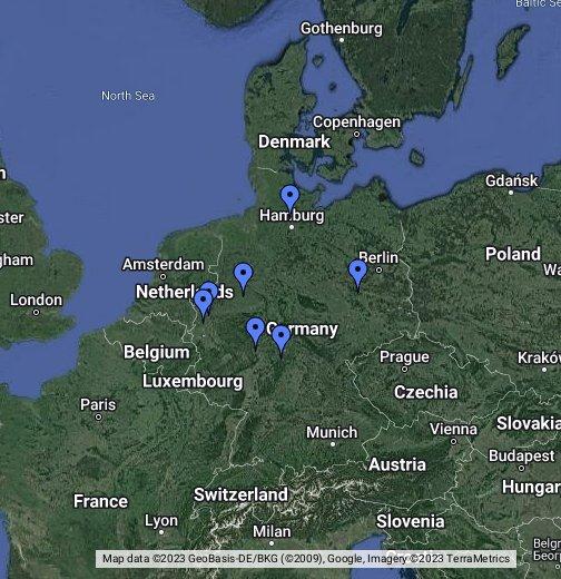 rennstrecken deutschland karte Mini Z Rennstrecken in Deutschland – Google My Maps