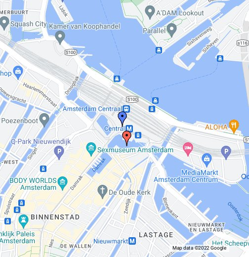 Amsterdam Central Station - Google My Maps on copenhagen map, moscow map, europe map, athens map, holland map, denmark map, israel map, world map, kinderdijk map, the netherlands map, edinburgh map, belgium map, leiden map, madrid map, hamburg map, constantinople map, berlin map, rotterdam map, budapest on map, stockholm on map,