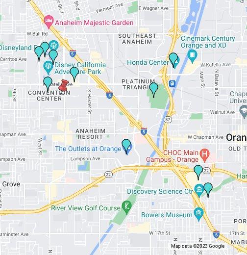 Anaheim Portofino Inn & Suites - Google My Maps on google earth satellite maps, weather anaheim, google maps disneyland, kenos anaheim, google maps street view, map of california cities anaheim,