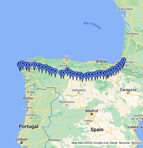 Camino de Santiago - The Way of St. James - Google My Maps on
