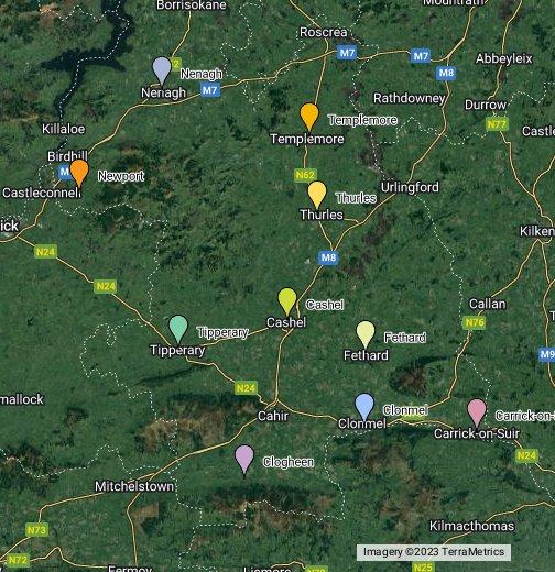 Co Tipperary Ireland Google My Maps