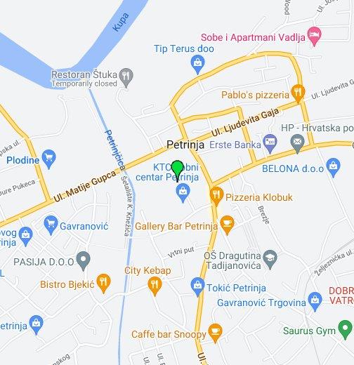 Grad Petrinja Google My Maps
