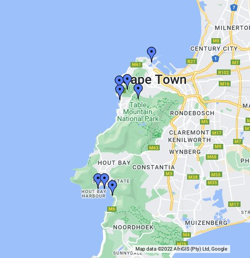 Cape Town - Google My Maps Cape Town Maps on