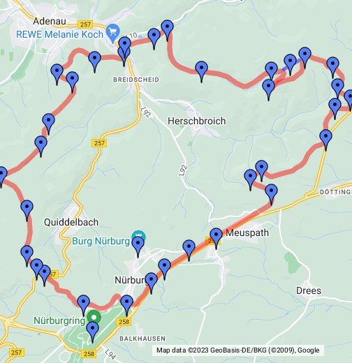 Nürburgring Nordschleife - Germany map nurburgring