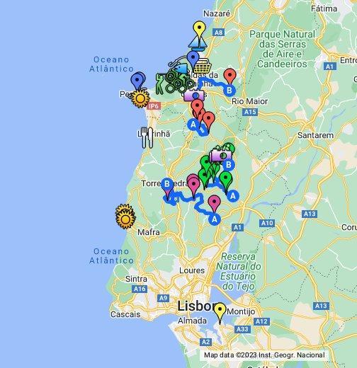 Silver Coast Life Map - Portugal map silver coast