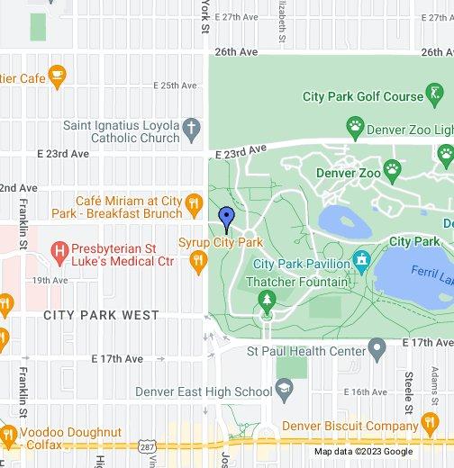 City Park Denver Map Yoga Rocks the Park   Google My Maps