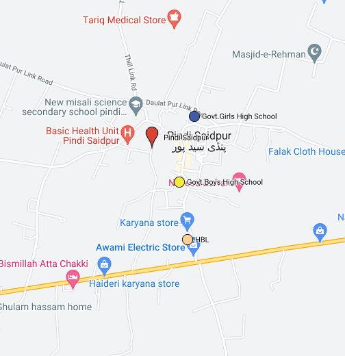 Map Of Pindi Said Pur - Saidpur map