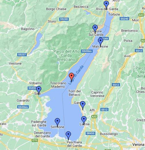 gardasee karte Italien – Gardasee   Google My Maps
