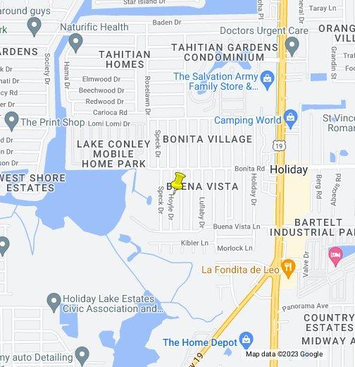 Florida Map Google Maps.Holiday Fl Google My Maps