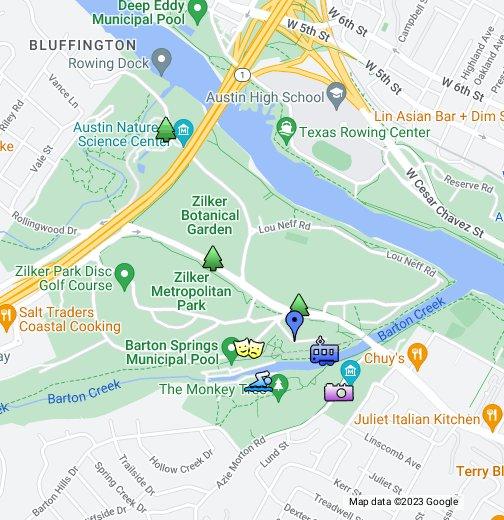 Zilker Park - Google My Maps on