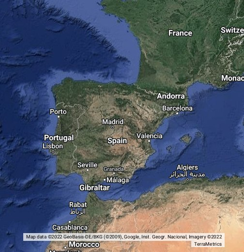 Google Map Of Spain And Portugal.Cng Stations Spain And Portugal Google My Maps