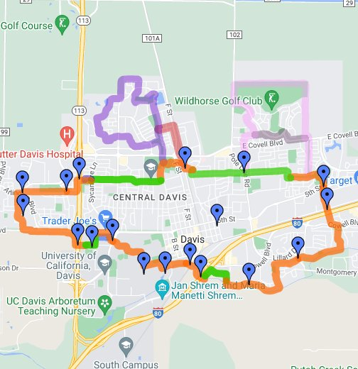 Davis Bike Loop - Google My Maps on