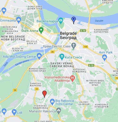 carigradska ulica beograd mapa Mapa Beograda   Google My Maps carigradska ulica beograd mapa