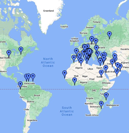Cartina Mondo Online.Mappa Geografica Mondiale Google My Maps